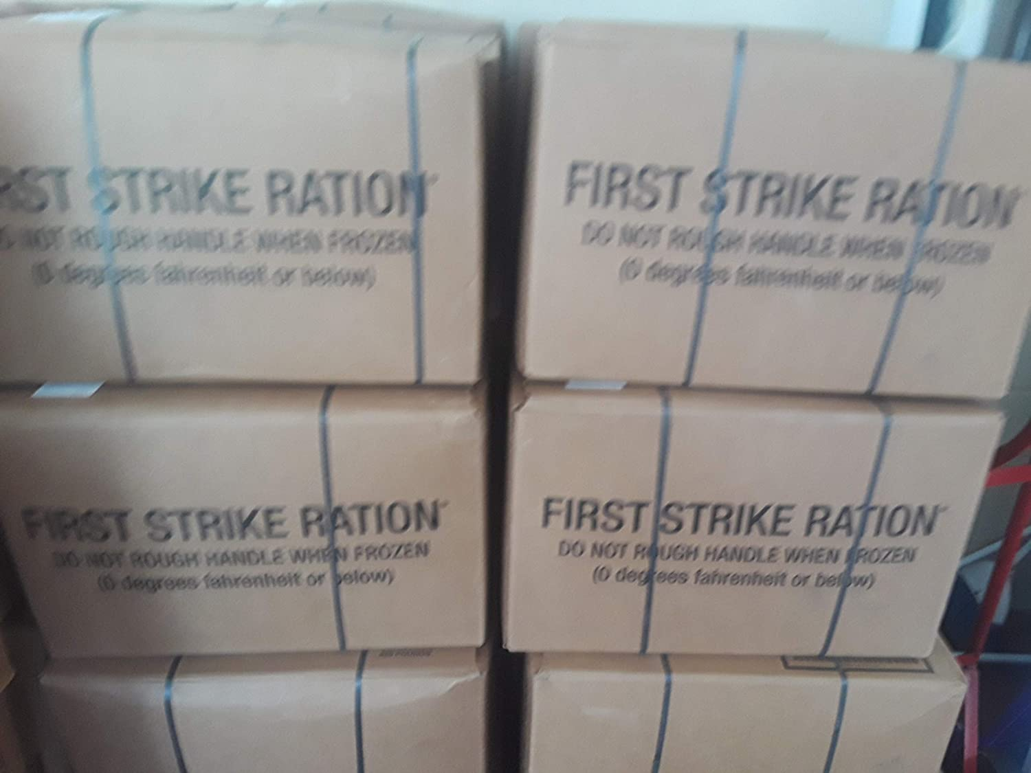 FULL CASE 9 MEALS FIRST STRIKE RATIONS INSP DATE 2020