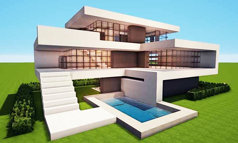 Amazon Com Modern House For Minecraft Pe Appstore For Android