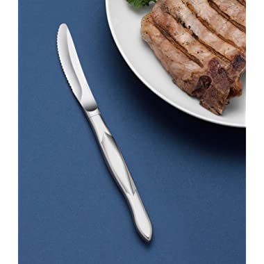 CUTCO Model 1959 single all-Stainless Steel Table knife with Double-D® serrated edge blade, overall 8.5  long.
