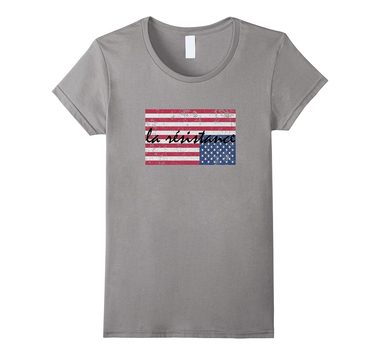 American Flag La Resistance Resist Upside Down USA T Shirt