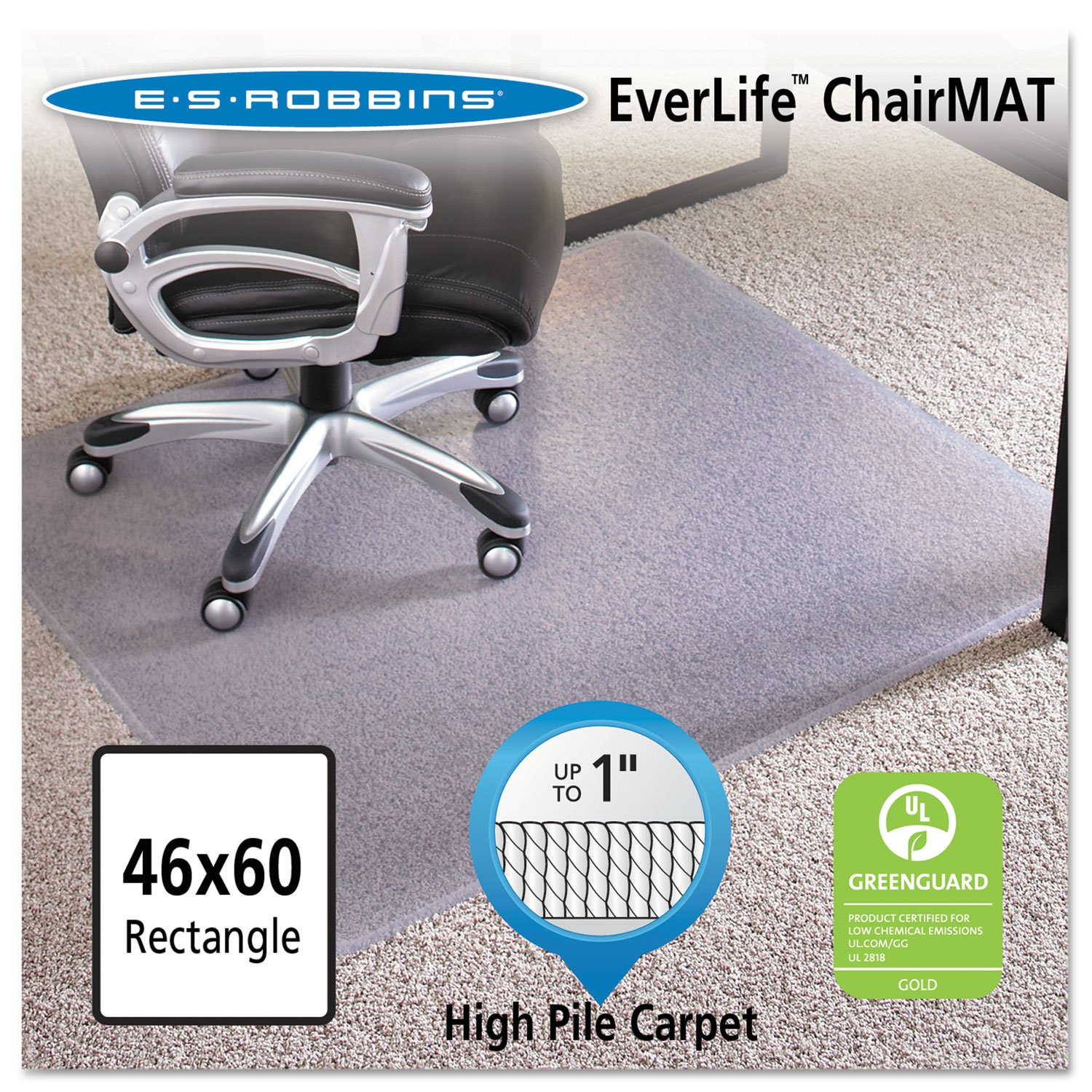 amazon com esr124377 46x60 rectangle chair mat carpet chair