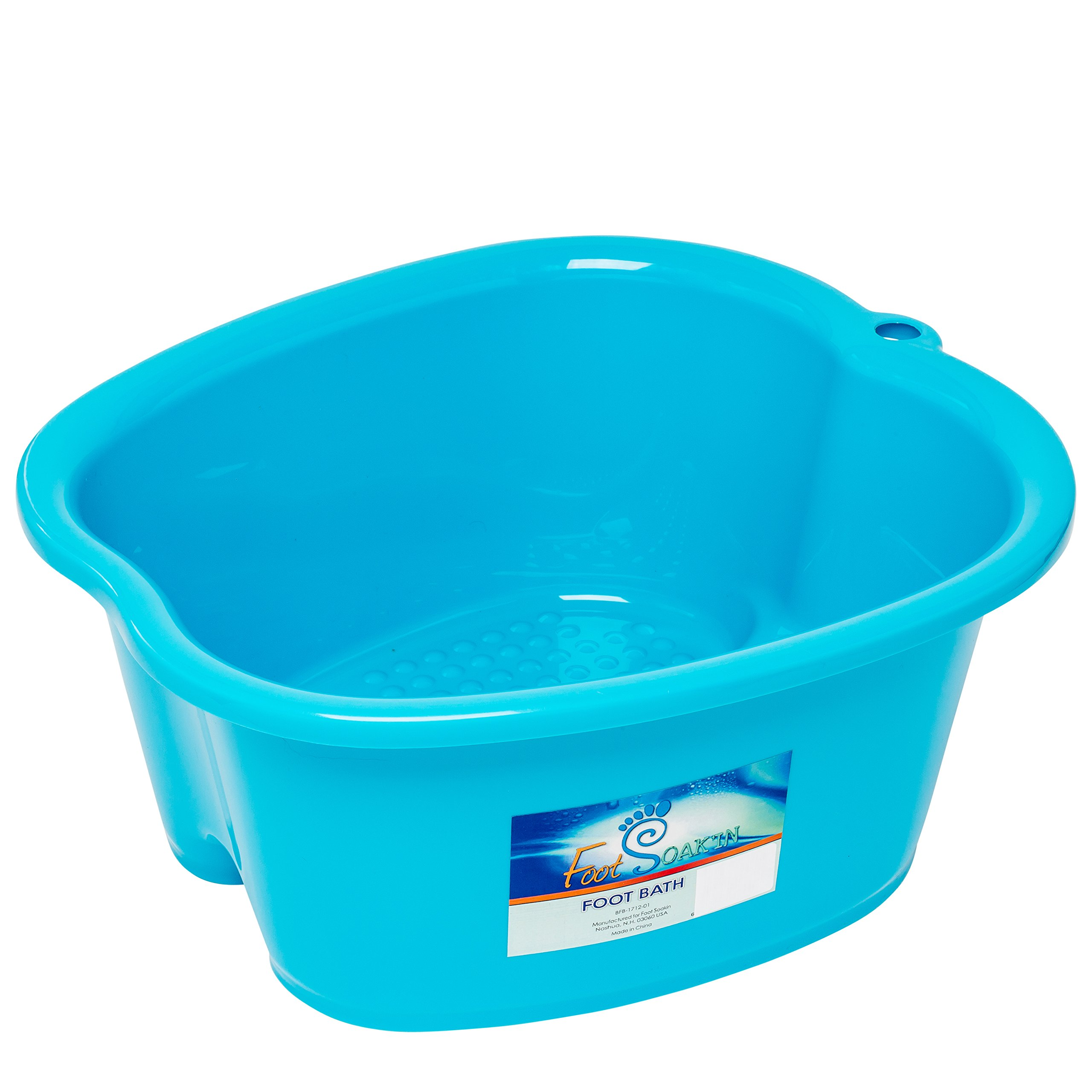 Large Foot Bath Spa Tub - Thick Sturdy Plastic Foot Basin for Pedicure, Detox, and Massage - Perfect to Soak Your Feet, Toe Nails, and Ankles