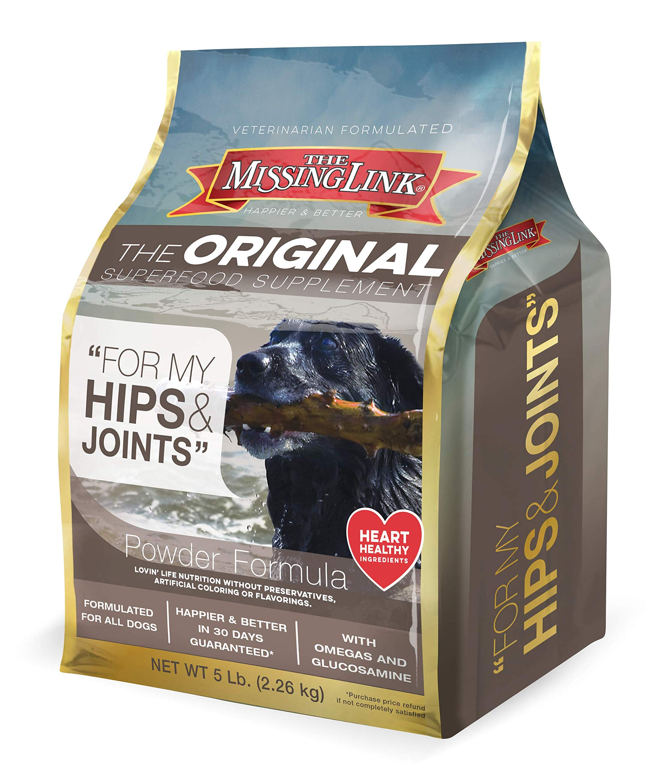 Missing Link Ultimate Hip, Joint & Coat Dog Supplement, 5 LB by The Missing Link