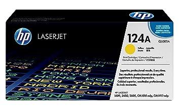 HP 124A Yellow Original LaserJet Toner Cartridge (Q6002A)