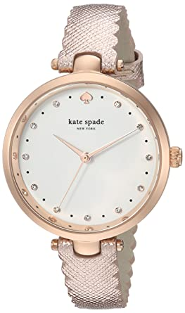 fd5cca09341 kate spade new york Women s Holland Stainless Steel Analog-Quartz Watch  with Leather Calfskin Strap