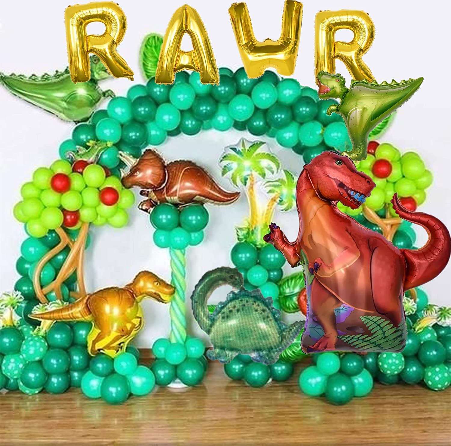 OMG Party Factory - Dinosaur Balloons Mylar Foil Birthday Party Decorations Dinosaur Party Supplies 4 Year Old(Roar IM Four)