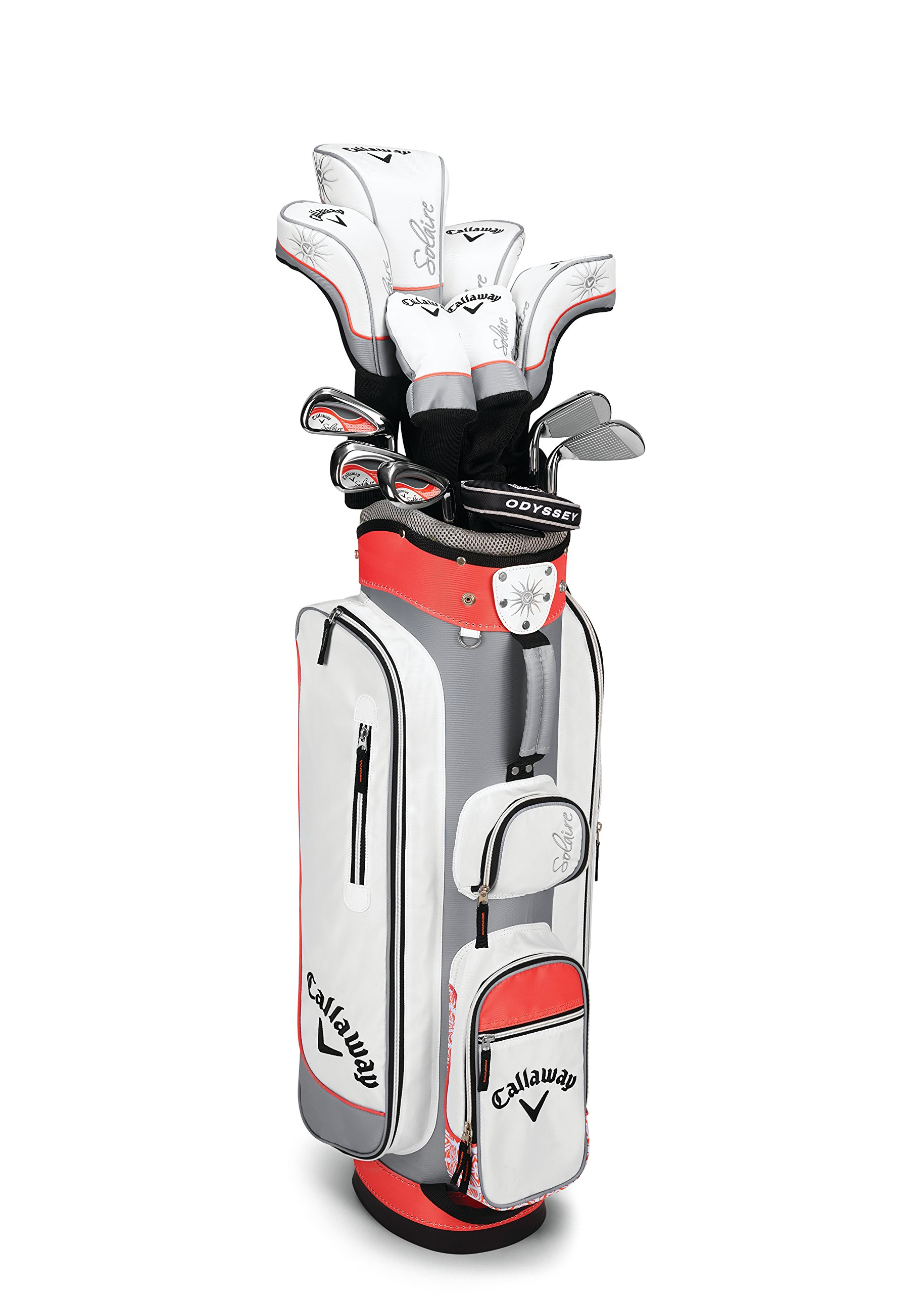 Callaway 2016 Women's Solaire Complete Golf Set, Right Hand, 8-Piece, Coral