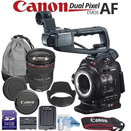 Canon EOS C100 with Dual Pixel CMOS AF + Canon EF 24-105mm f/4L is II USM  Zoom Lens Kit & Kit