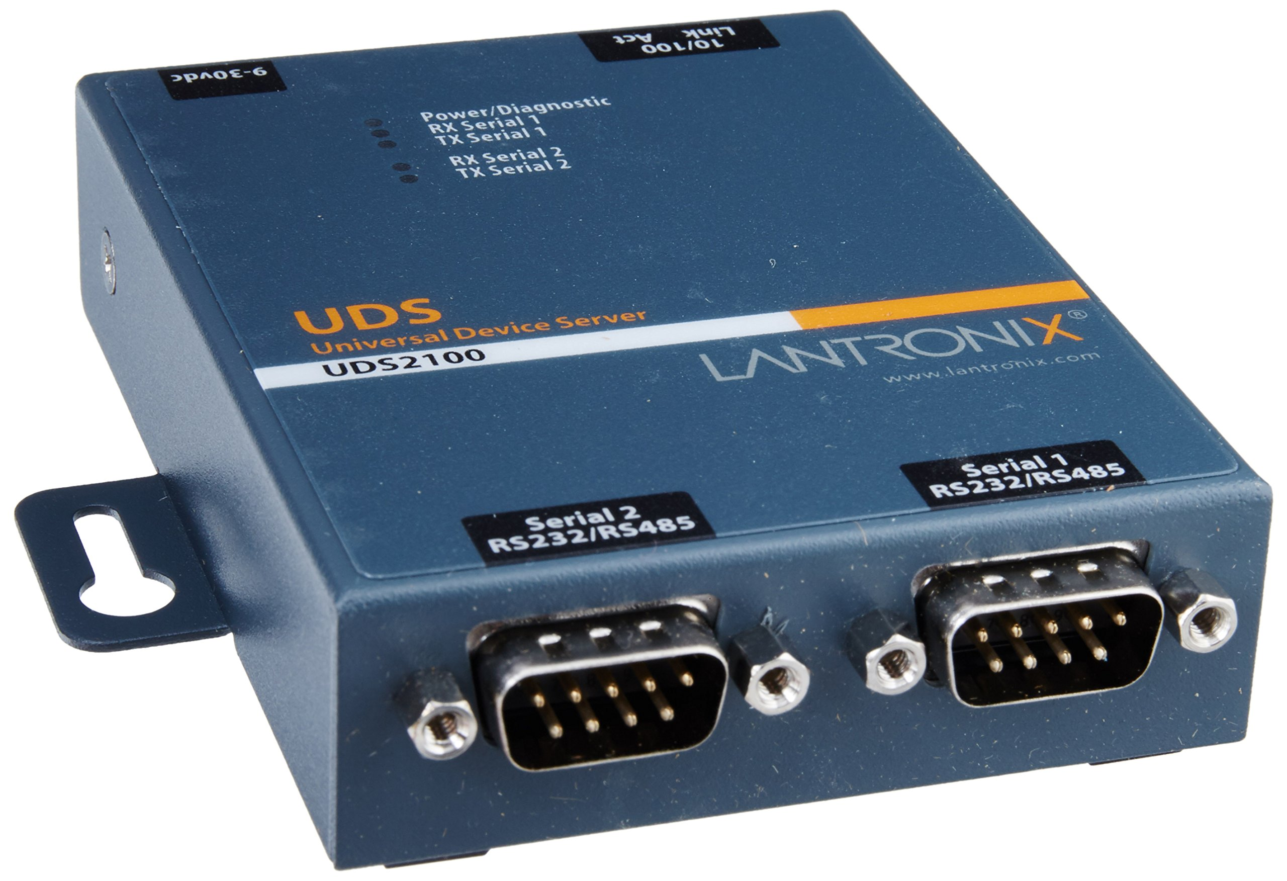 UD2100001-01 Device Server 2PRT 10/100 RS232/422/485 Dom Ps by Lantronix