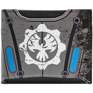 Gears Of War Phoenix Omen Symbol Armour Silver Bi Fold Wallet