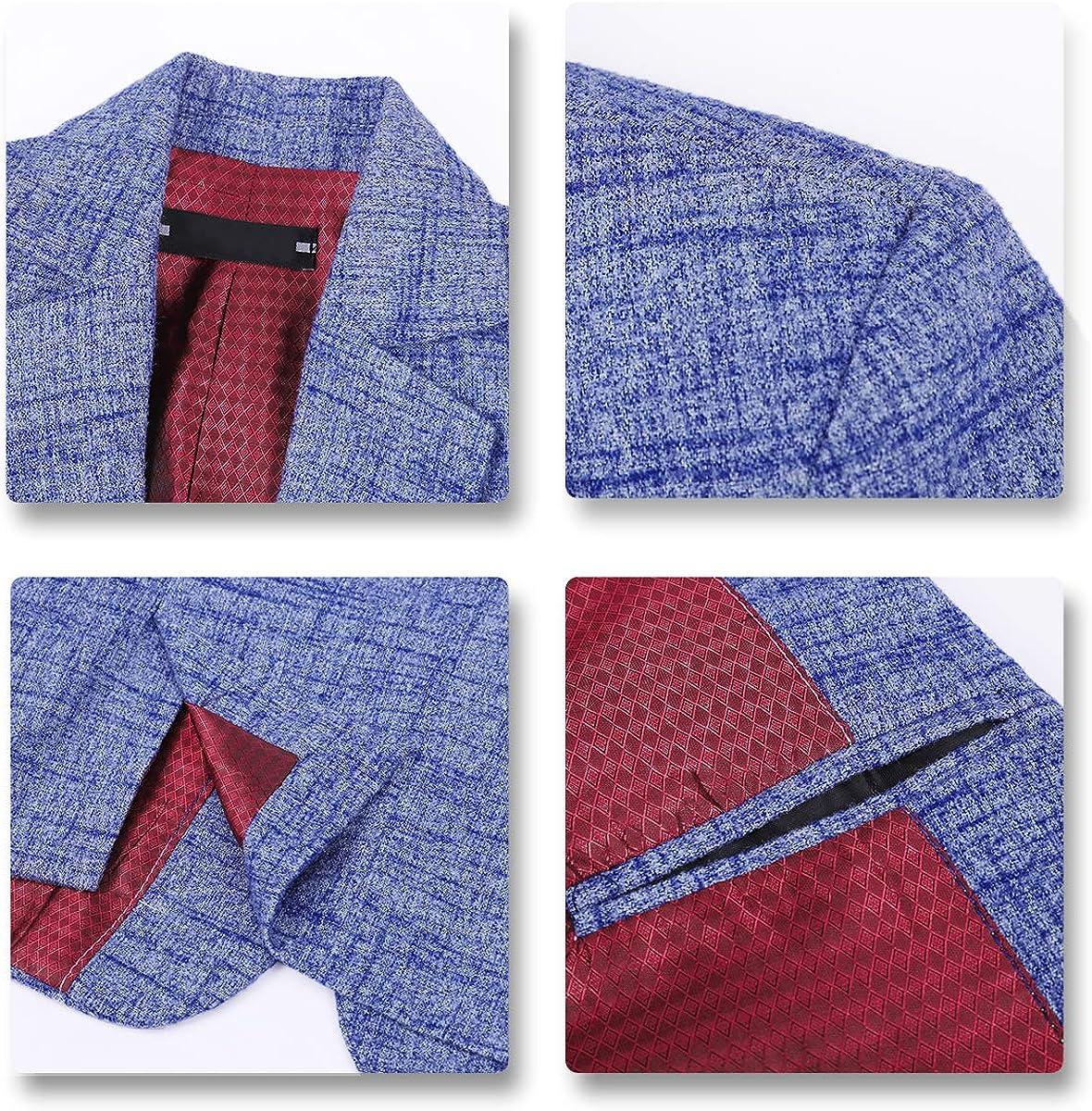 Boys Cool Colors Plaid Suit Multi-Piece Suit Set with Vest Bowtie Rose Brooch for Wedding Party