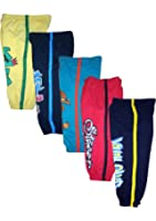 T2F kids Boys' Track Pant (Pack of 5) -Red- Black- Violet- Yellow- Blue