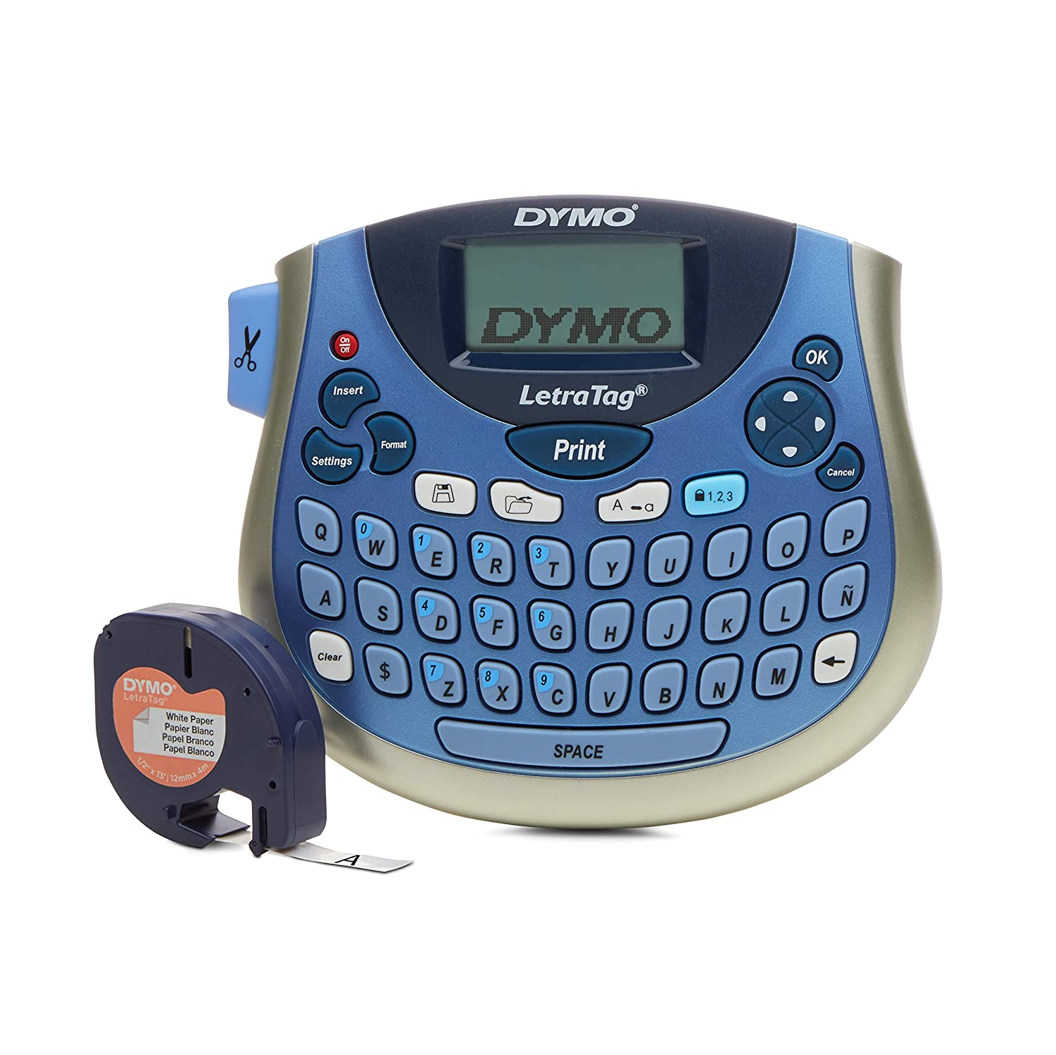 DYMO LetraTag LT-100T Compact, Portable Label Maker with QWERTY keyboard (1733011)