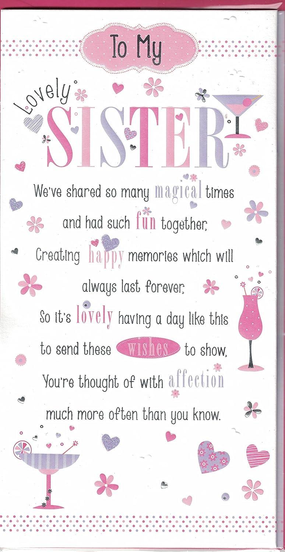 Schwester Geburtstagskarte ~ To My Lovely Sister ~ Moderne Blumen ... - Geburtstagskarte Schreiben