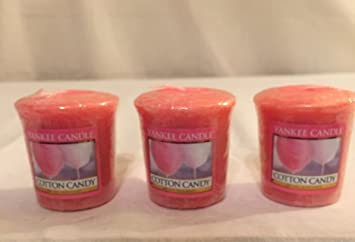 Amazon.com: Lot of 3 Yankee Candle COTTON CANDY Sampler® Votive ...
