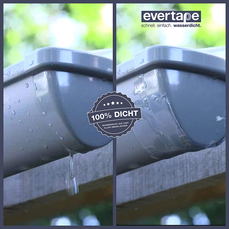 per riparare e sigillare impermeabile utilizzabile anche su superfici bagnate e sottacqua. kit di riparazione EVERTAPE Riparazione nastro adesivo