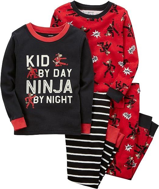 Carters Boys 4-Pc. Ninja Snug Fit Cotton Pajamas