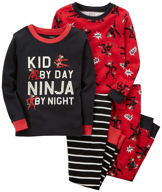 84bb2d58f Amazon.com  Carter s Boys  4-Pc. Ninja Snug Fit Cotton Pajamas  Clothing