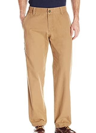 db30e644b01ca G.H. Bass & Co. Men's Flat Front Canvas Terrain Pant at Amazon Men's ...