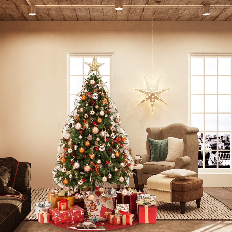 SISIMOM Christmas Ball, 80mm Christmas Ball Shatterproof Christmas Tree Balls Ornament Set Decorations for Holiday Xmas Party Decoration Tree Ornaments(3.15'',White)