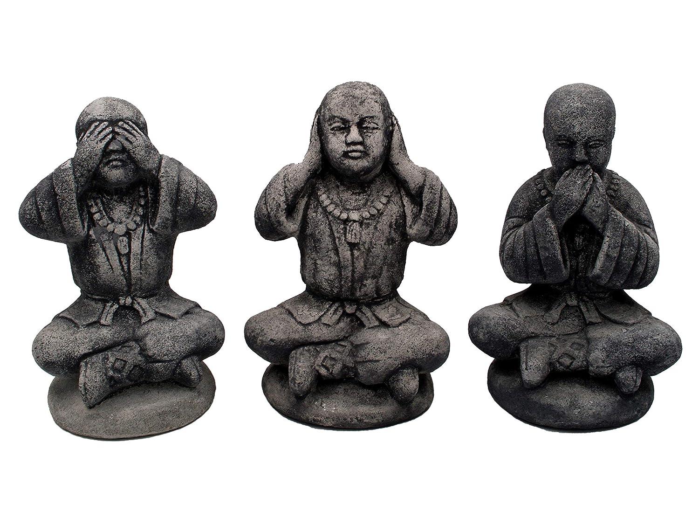 Offerta speciale  l'insegnamento buddista 3 Buddhas 3 come monaci espressi frostfest pietra