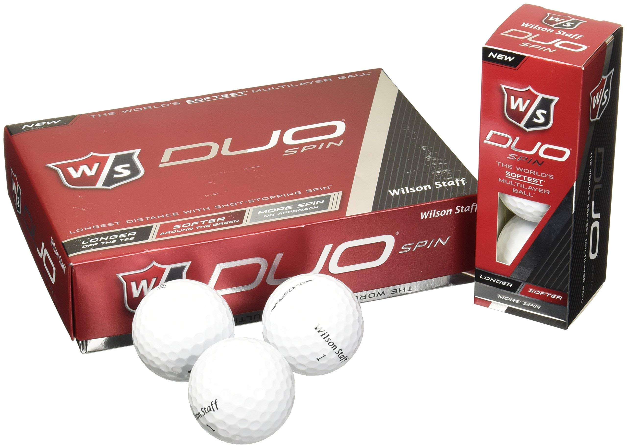 Wilson Staff Duo Spin Golf Balls (12-Pack), White (Renewed) by Wilson Golf