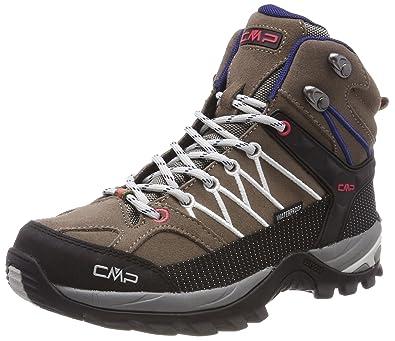 CMP Campagnolo Rigel, Chaussures de Randonnée Basses Femme, Gris (Grey-Red Fluo), 36 EU