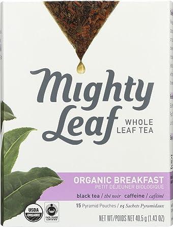 Mighty hoja de té orgánico Desayuno Té Bolsas – -6 por Caso ...