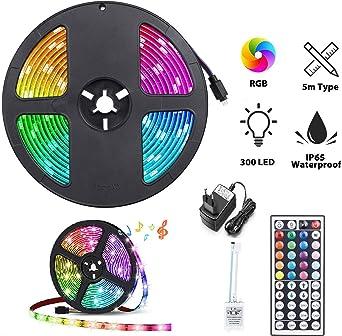 Multicolor 5050 Tira de Luz LED TV Impermeable Strip RGB 5M ...