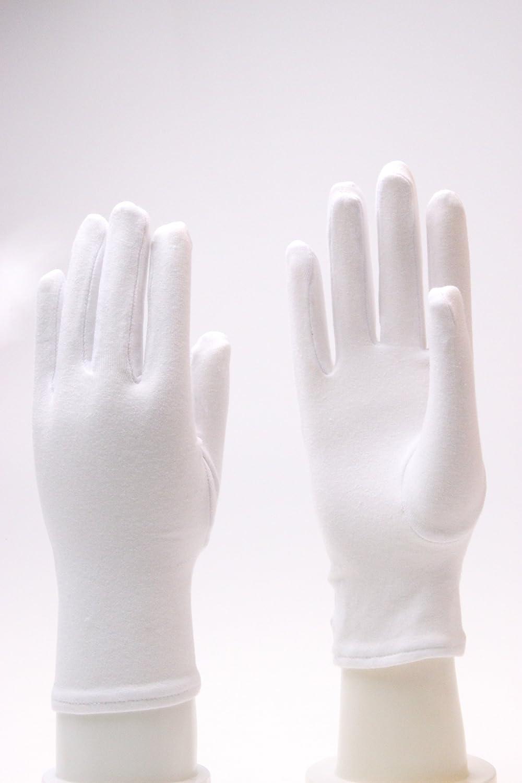 Generisch Weiß Baumwolle Feucht Kosmetisch Handschuhe