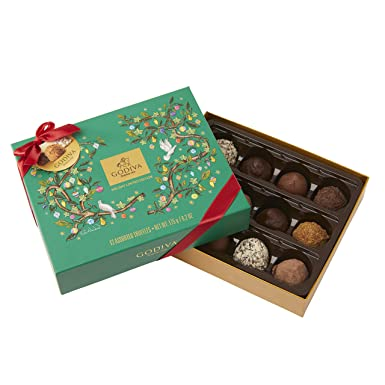 Godiva, Navidad 2018 bombones trufas surtidas caja regalo 12 piezas, 175g