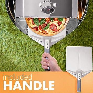 Tragba Outdoor - Horno portátil para Pizza con Base de Tra ...