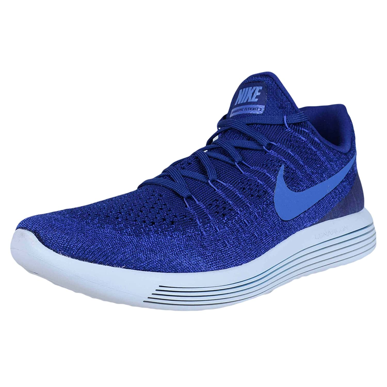 NIKE Lunarepic Low Flyknit 2 Mens Running Shoes B06VXW9K55 10 D(M) US|Deep Royal Blue/Medium Blue