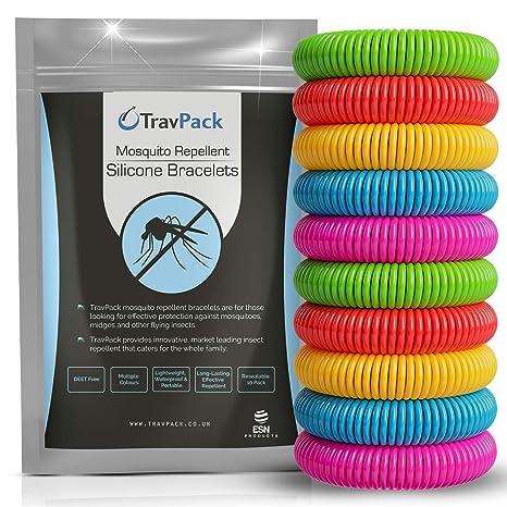 Excellente qualité plus de photos fournisseur officiel TravPack® Premium Bracelets Anti-moustiques (x10) – Garder Les moustiques à  Now. marché Leader Anti-Insectes, scientifiquement conçu avec 250 Heures ...