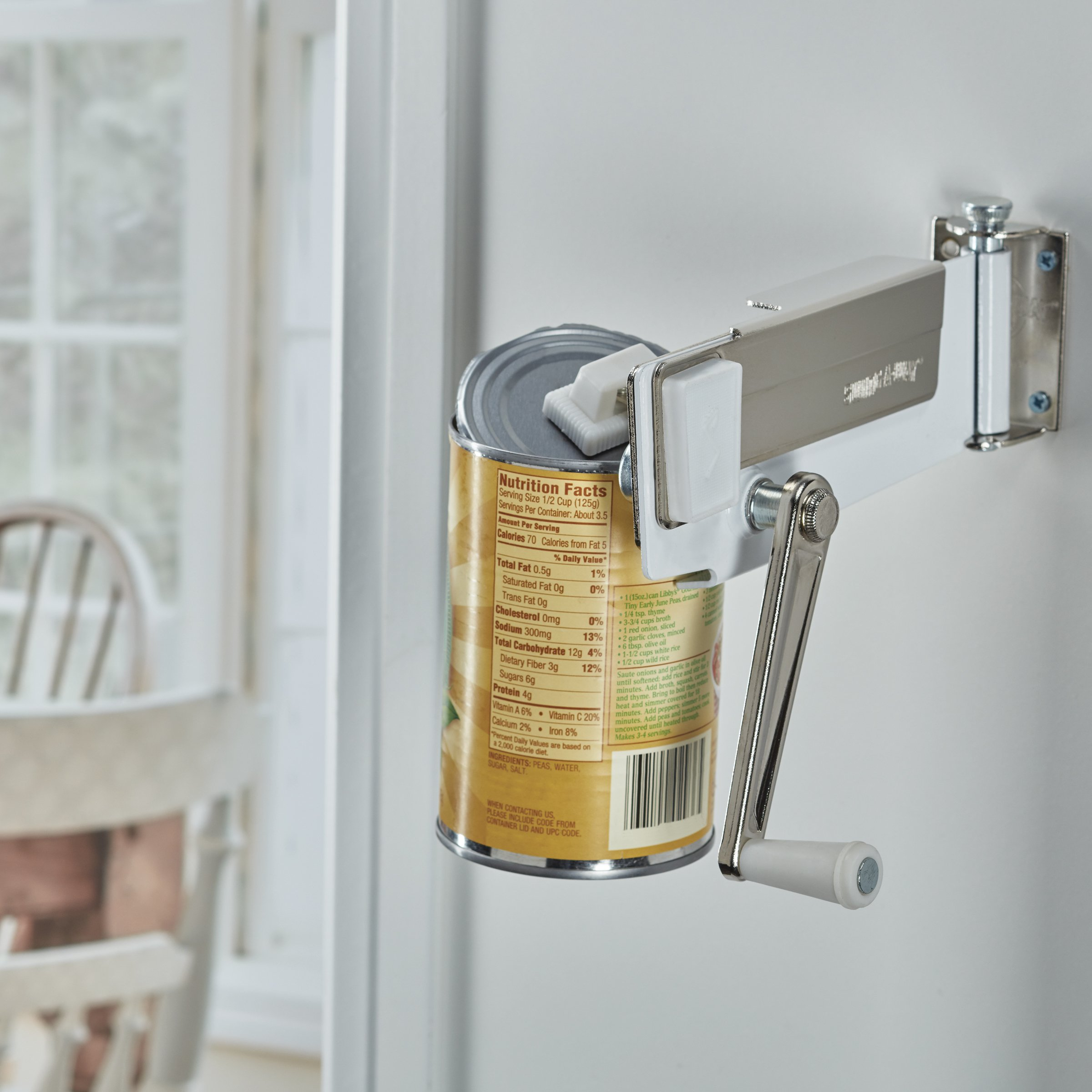 Swing-A-Way Magnetic Wall Can Opener, White by Swing-A-Way (Image #4)