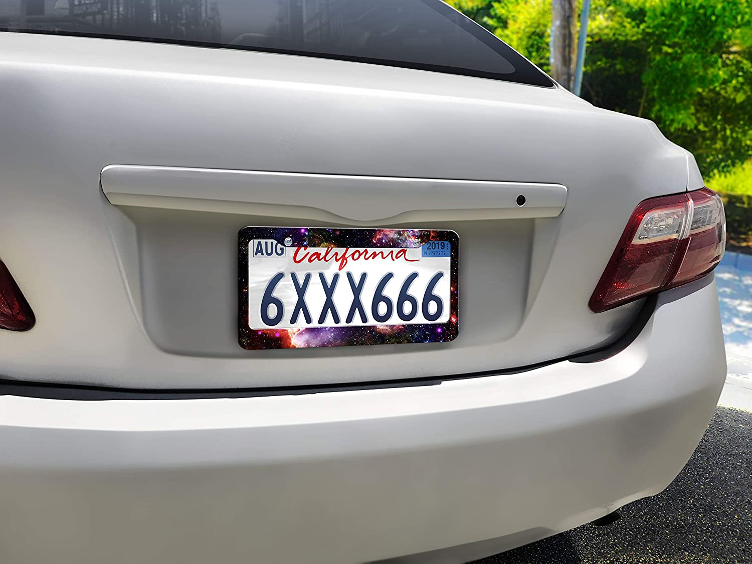 Design Galaxy WIRESTER Printed License Plate Frame Decoration Cover for Car Truck SUV Vehicle