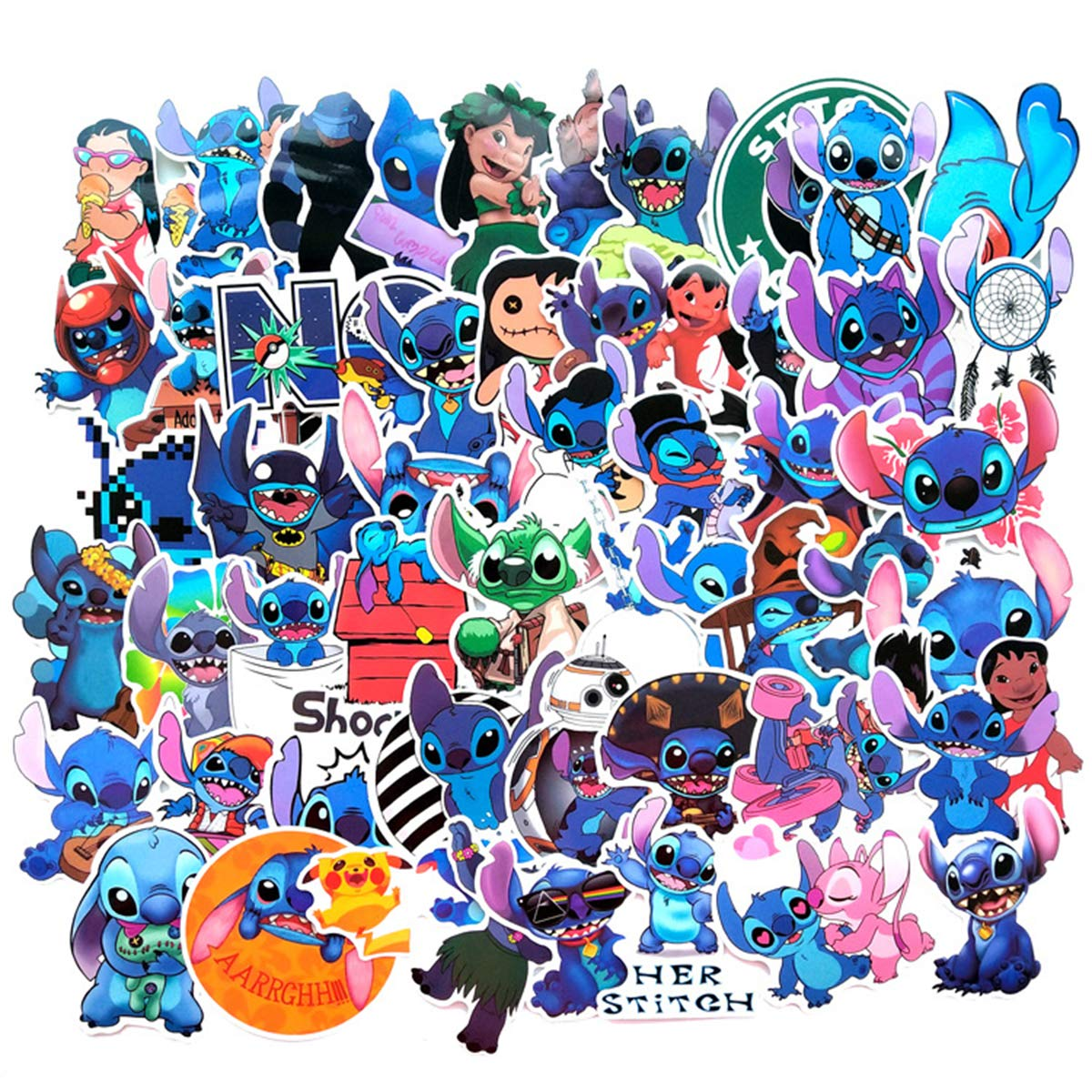 Stickers Calcos 52 Un. Stitch Origen U.s.a. (7rjqhw5q)