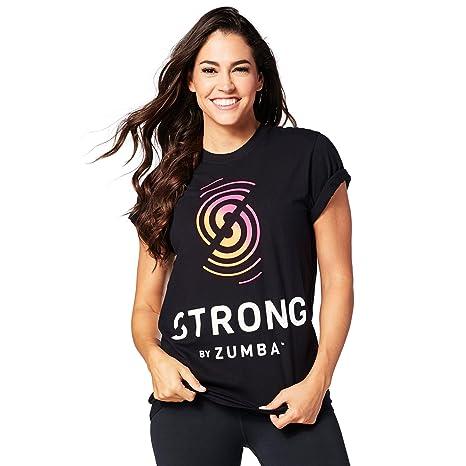 Zumba Fitness® Strong by tee Camiseta, Mujer, Naranja, XS/S