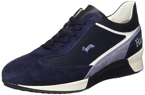 Low Blaine In Navy amp; Sneaker Scarpe blu Top Harmont Camoscio Uomo aBYqt