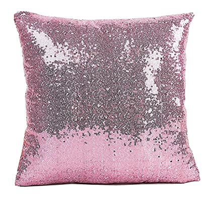 ME COO Multicolor Sequin Hug Pillowcase car Cushion Living Room Room Decoration Pillow Covers 15.7 x 15.7Inches 1pcs