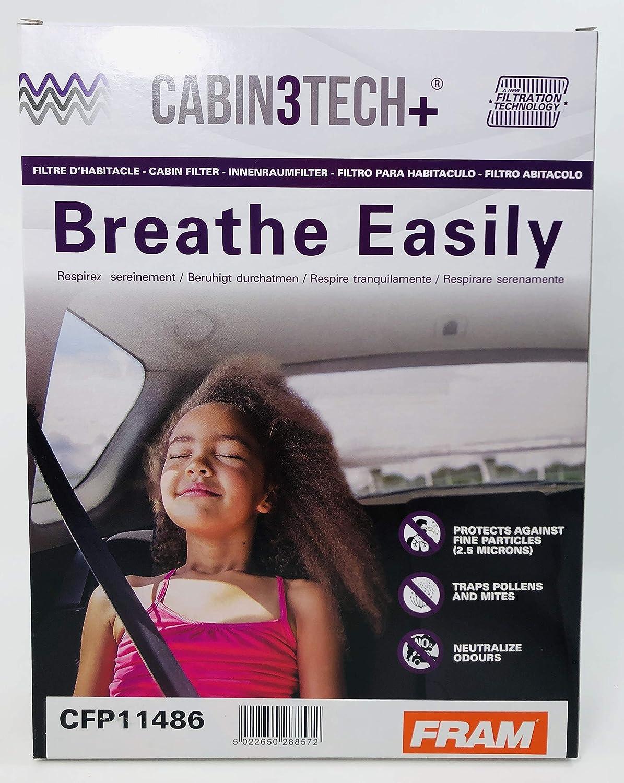 Cabin3Tech Filtro Habit/áculo Carb/ón Activo Antibacteria Fram CFP11486