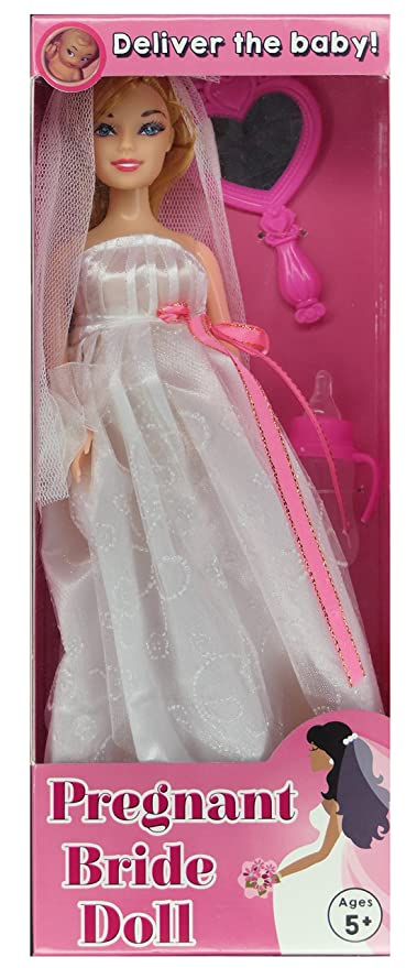 pregnant bride doll after the wedding deliver the baby fun bridal shower gift