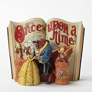 "Disney Traditions by Jim Shore ""Beauty and the Beast"" Storybook Stone Resin Figurine, 6"""