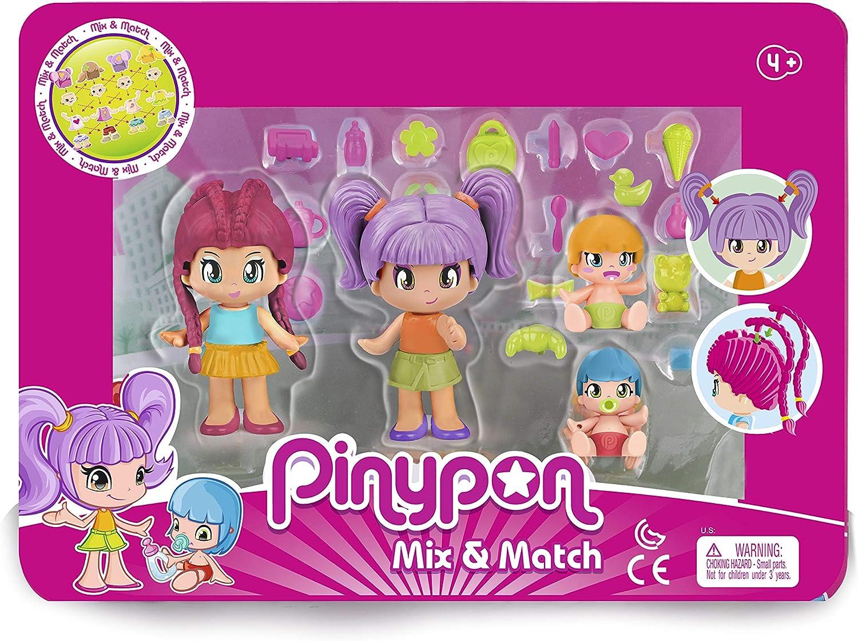 Amazon.es: Pinypon- Pack 4 Figuras New Look, a Partir de 4 años (Famosa 700015571): Juguetes y juegos