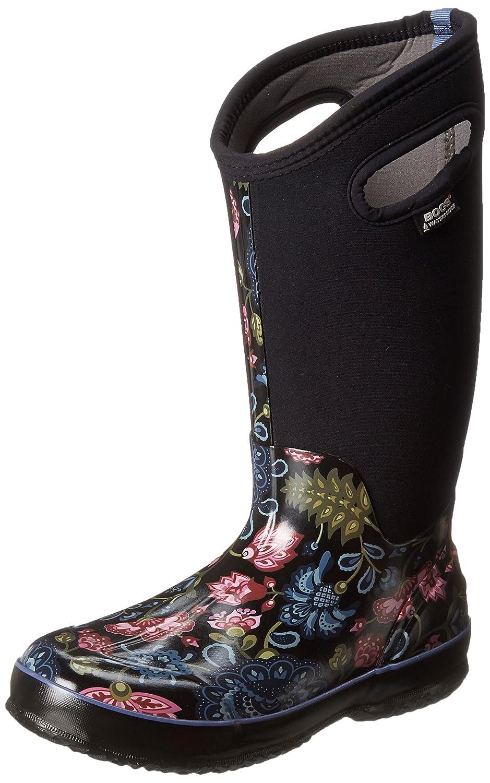 Bogs Women's Classic Winter Blooms Tall Winter Snow Boot B00GUJXGSI 6 B(M) US|Black Multi