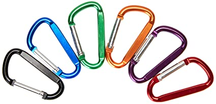 20pcs Aluminum Carabiner Key Chain Clip Outdoor Camping Keyring Snap Hook Water Bottle Buckle Travel Kit Climbing Accessories Camping & Hiking