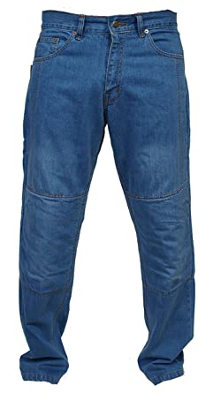 newfacelook Hommes Motorcycle Moto Pantalon Motards Jeans Renforc/ée Aramide Protection