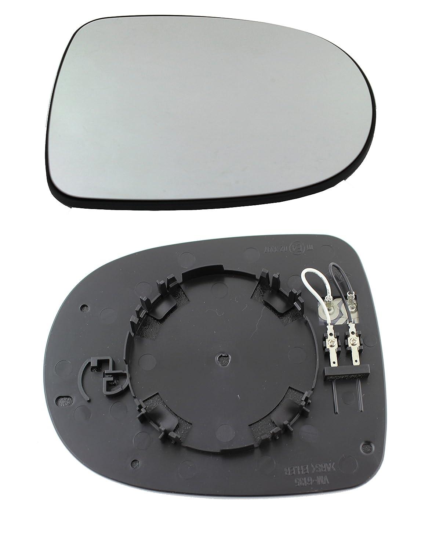 TarosTrade 57-0347-R-51196 Vetro Specchietto Retrovisore Riscaldabile Lato Destro