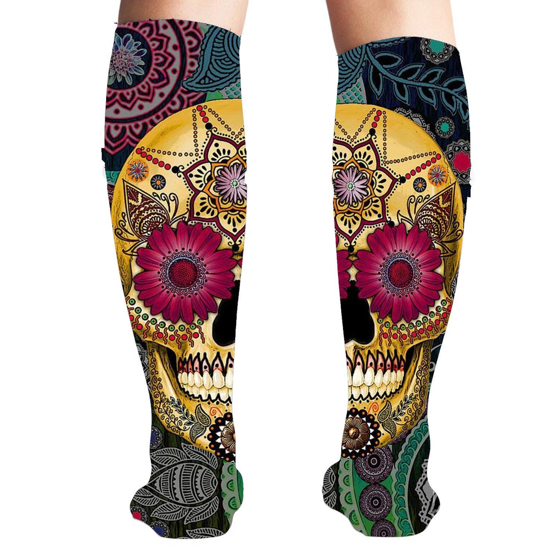Amazon.com: Calavera Smile Athletic calcetines calentador de ...