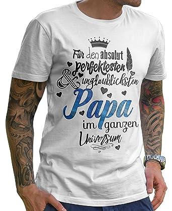 the best attitude 92b64 d8b04 Stylotex Herren T-Shirt Basic Für den absolut perfektesten Papa |  hochwertiges Männer Shirt zum Vatertag, Weihnachten, Geburtstag | in  Deutschland ...